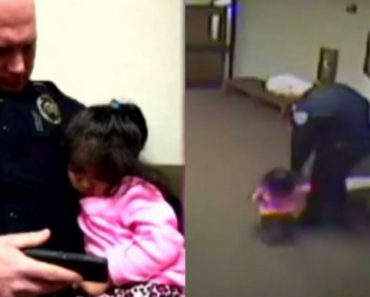 Hero Officer Offered To Babysit 2-Year-Old, Baby Fell Asleep On His Lap While Waiting