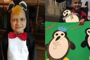 Cancer Might Take This Kid Before Christmas, Let's Make His Last Wish Come True By Giving Him Penguin Cards