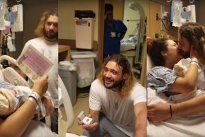 New Mother Had A Double Overwhelming Moment As Her Newborn Baby Help Her Dad Propose