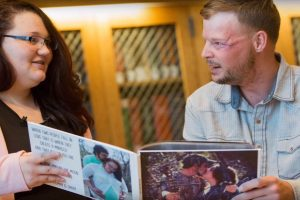 Man Who Gave Up On Life For The Past 10 Years Meets The Widow Of His Face Donor