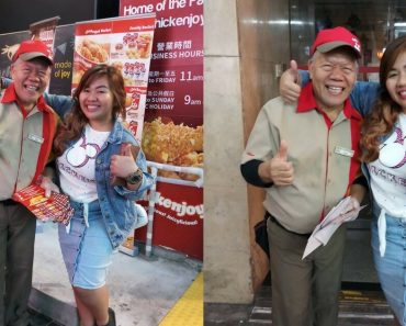 64 Year-Old Man Earns Praise For Still Working As A Jollibee Crew In HK Despite His Age