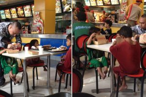 Man Treats Street Kids at Jollibee, Assists Them in Eating and Buys More Food for Their Mom