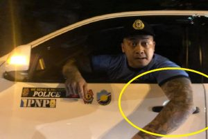Man in Car with Police Stickers Fights with Private Citizens, Nearly Rams Their Car