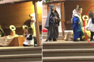 Adorable Brawl Breaks Out after 'Sheep' Kidnaps Baby Jesus in Christmas Pageant
