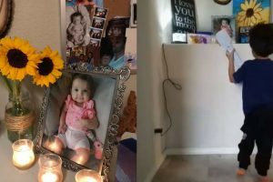 """Dad Caught 4 Year Old Boy Singing """"Coco"""" To His Late Sister On Her 1st Birthday"""
