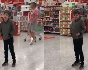 Autistic Boys Belts Out In Front Of A Supermarket Crowd For Charity – Lands A Record Deal