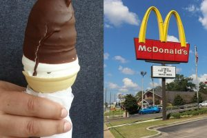 Persistent Mcdonald's Worker Asks Customer To Get Another Order After Dropping Ice Cream Into Dip Twice
