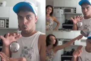 Funny Video Of A Husband's Magic Trick Ruined By Pregnant Wife