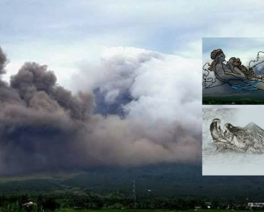 The Couple In The Mayon Volcano Legend Shows Themselves In This Amazing Eruption Photo
