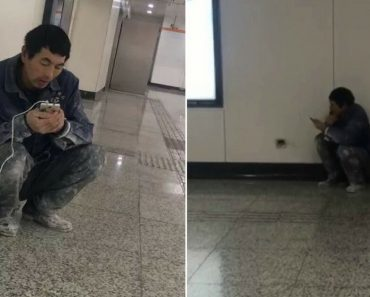 Migrant Worker Walks To The Subway Every Night Just To Talk To His Wife And Family