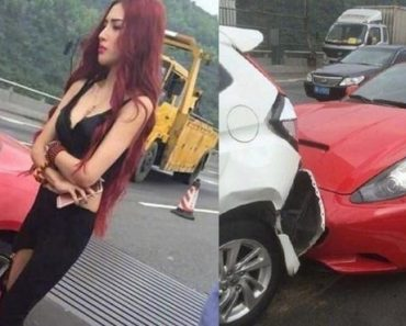 Guy Agrees to Settle after Seeing Beautiful Driver of Ferrari that Hit His Car