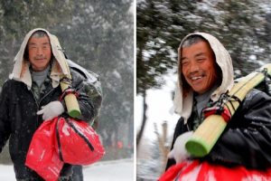 Man Happily Walks 40km Home to Save Money, So He Can Buy His Wife Some New Clothes