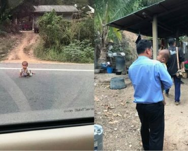 Baby Escapes Sleeping Dad And Wandered Off Into A Highway, Lucky This Good Man Saw Him