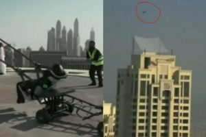 Watch How An Adrenaline Junkie Misses His Target When He Catapulted From A Building Top Floor