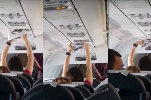 Passengers Shocked When Woman Dries Underwear With A Plane Air-Condition