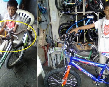Shop Owner Gives Bike to Poor Kid Who Went There to Get His Dilapidated Bike Fixed