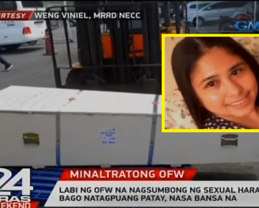 Remains of OFW Who Allegedly Committed Suicide after Reporting Abuse, Now Back in PH