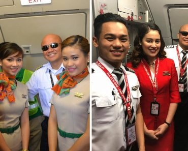 Pilot Trainee Shares Photos Taken with Pilot, One as Tourist and One as Trainee