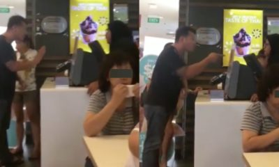 An angry customer shouted at a McDonald's staff non-stop because of an ice cream cone. [Image Credit: SINK - Singapore Ink / Facebook]