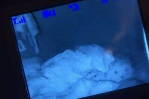 """Mom Sees Something Strange In The Baby Monitor """"Hugging"""" Her Baby While Sleeping"""