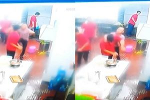 A Chinese Businessman Caught On CCTV Attacking A Filipino Worker With No Apparent Reason