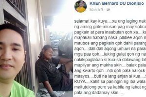 Good Karma: Homeless Man That A Netizen Used To Help, Paid Him Back By Protecting Him From Burglars