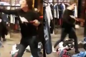 Angry Woman Trashes a Store After the Staff Refused to Give Her a Refund For the Clothes She Purchased Two Months Ago