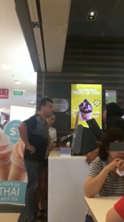 A customer claims that the McDonald's staff embarrassed him. [Image Credit: SINK - Singapore Ink / Facebook]