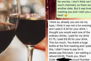 Tinder Date Gone Wrong: A Tinder Date Asks For His Money Back After the Girl Lost Interest in Him