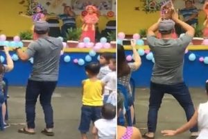 Supportive Dad Goes Viral for Dancing during Daughter's Presentation