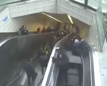 Broken Escalator Suddenly Turns On, 'Swallows' One Man Who was Trapped for 1 Hour
