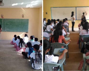 'Project Malasakit' by Kara David Donates Chairs to Students Who Were Sitting on Floors