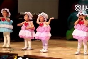 Adorable Kid Continues Dancing, Even While Crying in Talent Show