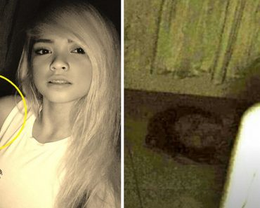 Lady Takes Selfies Alone in the Room, But Creepy Girl 'Photobombs' the Pictures