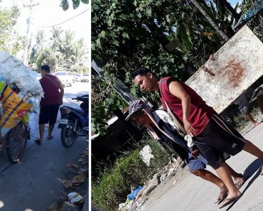 Kind Teacher Earns Praise for Helping Old Man Push Trike to Junk Shop