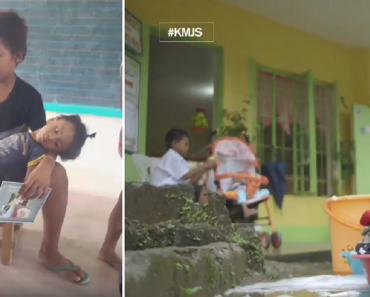 Boy Cares for Disabled Brother in School, Finds Help from Kind Netizens
