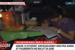 Poor Student Who Sells Balut at Night, Earns Praise from Netizens