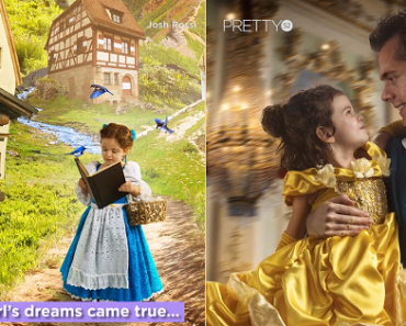 """This Dad Recreates """"Beauty and the Beast"""" with Daughter in Stunning Photos"""