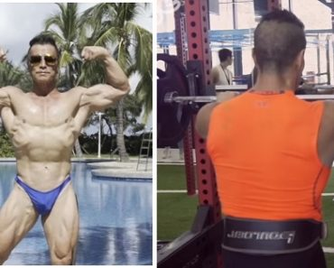 69-Year-Old Grandpa Wows with Superb Physique as Bodybuilder