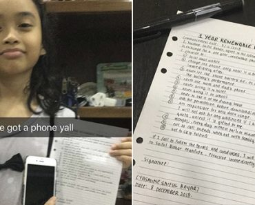 Family Makes Adorable 10-Year-Old Kid Sign Contract for 1-Year Renewable Plan to Get iPhone