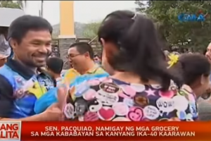 Pacquiao Celebrates 40th Birthday, Gives Away 4 Cars and 58 Motorcycles