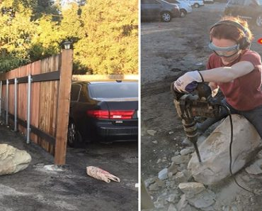 Neighbors Block Geologist's Car with a Boulder, She Gets Revenger with Auto-Chipper