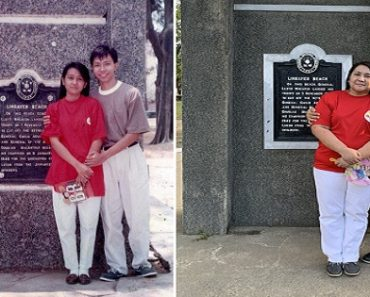 Couple Recreates Sweet Photo at Same Spot from 1992 While Wearing the Same Clothes