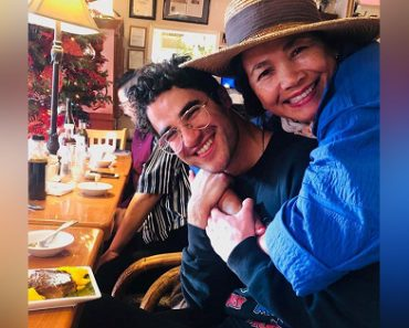 Darren Criss Celebrates 'Golden Globes' Win by Eating Filipino Treats with Pinay Mom