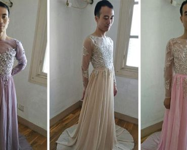 Male Online Seller Rocks Gowns for Sale after Customer Asks for Real Photos