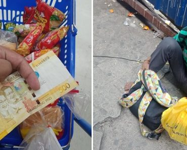 Guy Finds Php500, Uses the Money to Buy Groceries for Homeless Folks
