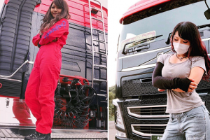 Japan's Most Beautiful Truck Driver Hailed for Gorgeous Looks in Manly Job