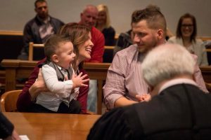 Foster Kid Shouts 'Dad!' in Emotional Courtroom Moment after Being Officially Adopted