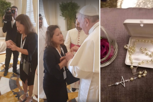 Pinay Widow Cries When She Met Pope Francis in Abu Dhabi, Receives a Beautiful Gift