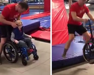 Heartwarming Video of Wheelchair-Bound Boy 'Jumping' on Trampoline Goes Viral
